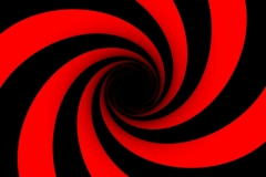 Black And Red Spiral Shape backdrop hire