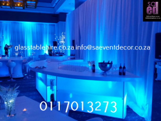 High GlossS-Shape High Gloss & LED Stretch  Furniture