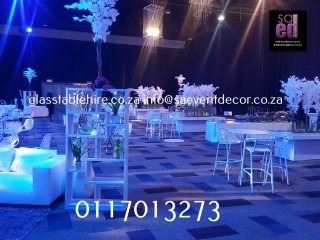 All White Themed Cocktail Event Furniture Hire