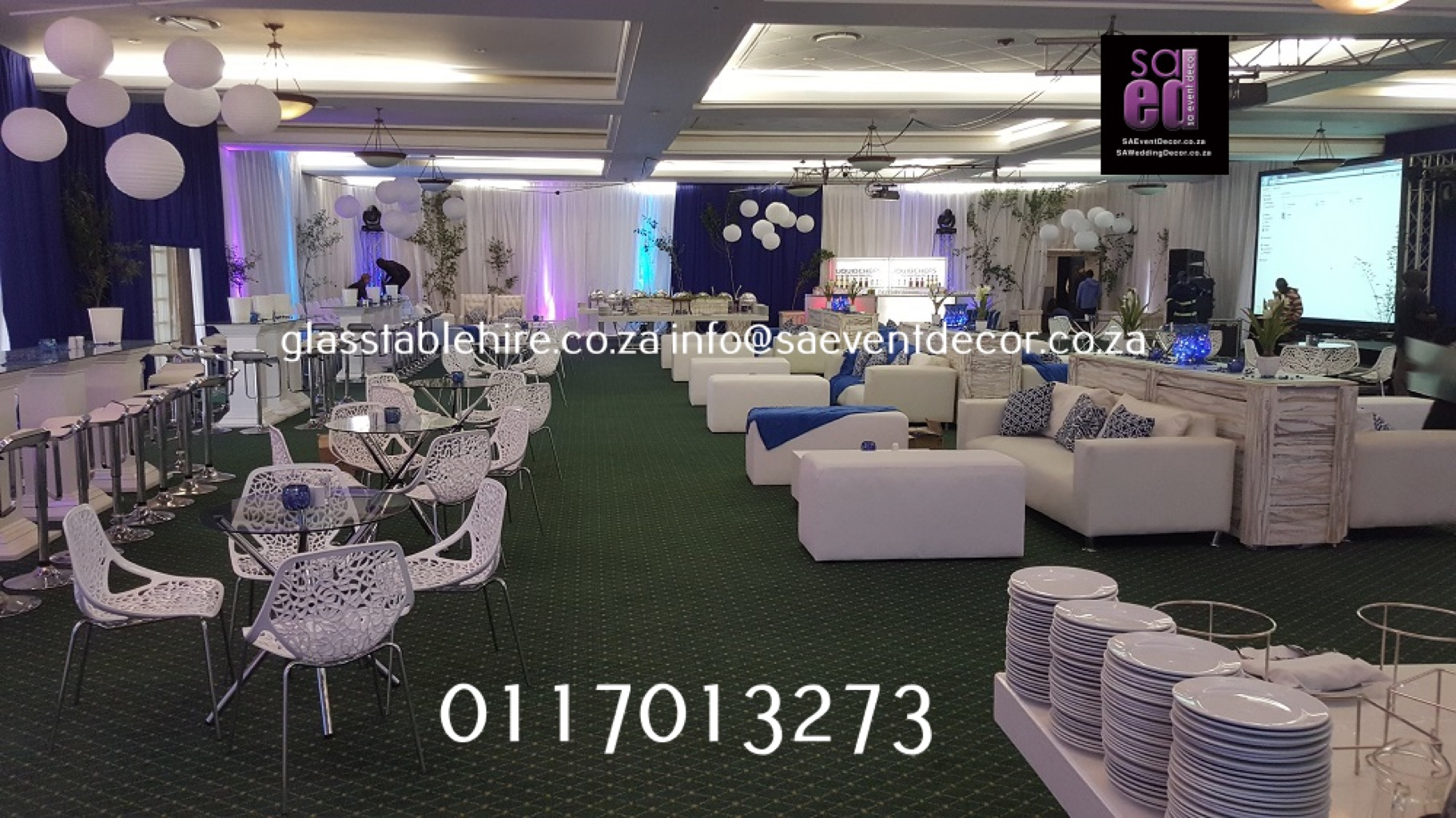 Indaba Hotel - All White Lounge Cocktail Events Furniture Hire