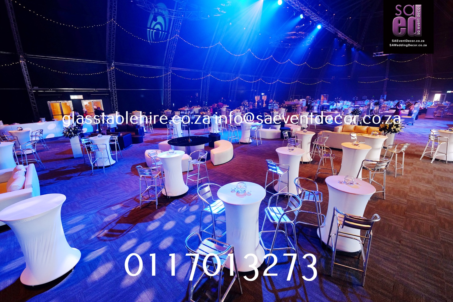 LED Cocktail Table With Aluminium Cocktail Chair Furniture Hire