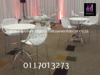 All White Cocktail Décor Furniture Hire