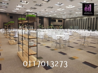 All White Cocktail Event Furniture Hire