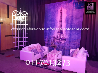 French Eiffel Tower Backdrop Hire