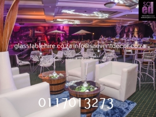 Indaba Hotel - Champagne Tasting - Cocktail Furniture Rentals