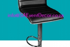 Black Padded Cocktail Cafe Chair Rental chairs for the perfect cocktail event From SA Event Decor (2)