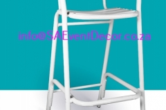 White Cocktail Cafe Chair Rental chairs for the perfect cocktail event From SA Event Decor