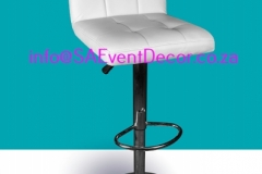 White Padded Cocktail Cafe Chair Rental chairs for the perfect cocktail event From SA Event Decor