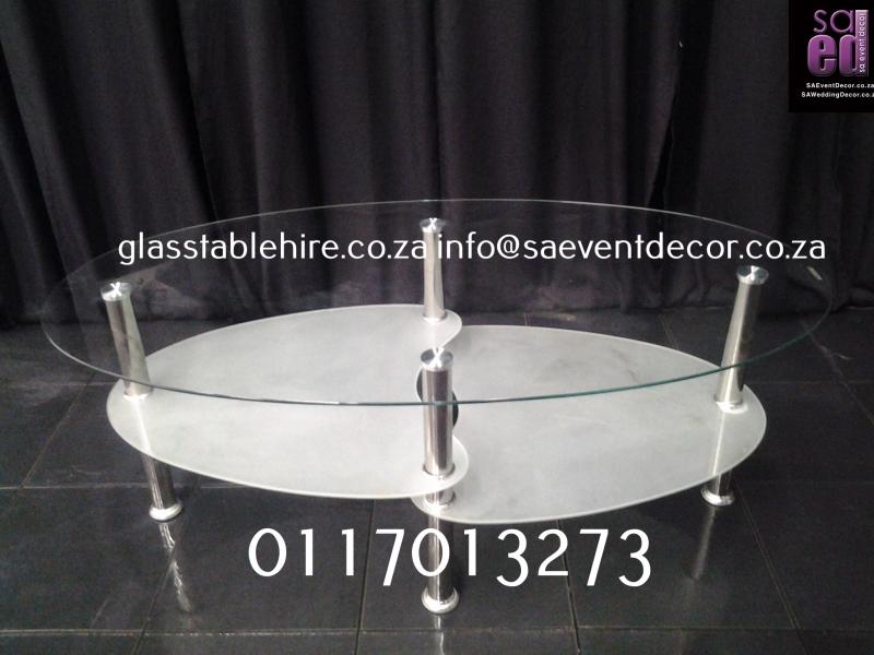 Aluminium & Glass Coffee Table coffee White And Clear Glass  And Aluminium Coffee Table