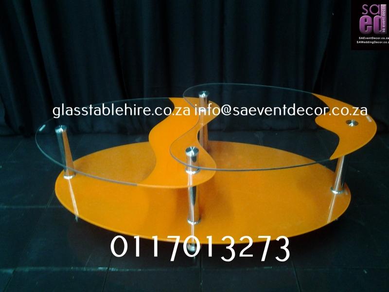 Aluminium & Glass Coffee Table coffee Yellow Aluminium & Glass Coffee Table