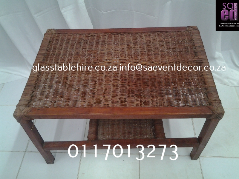 Brown Wicker Coffee Table