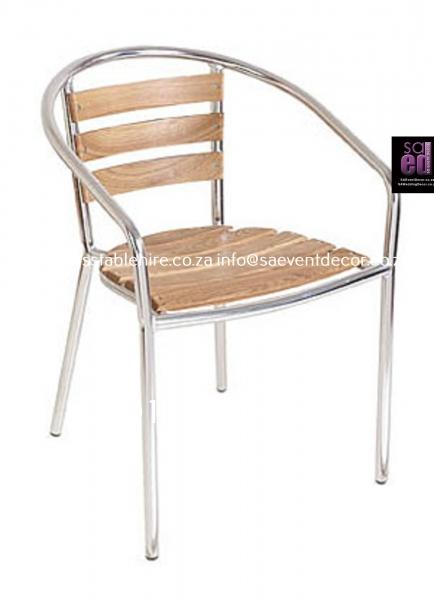 Aluminium & Wood Café Chair