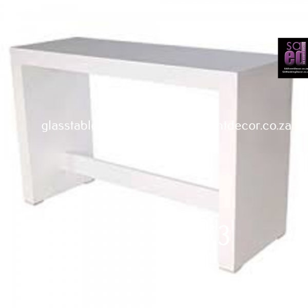 White High Gloss Conversation Table