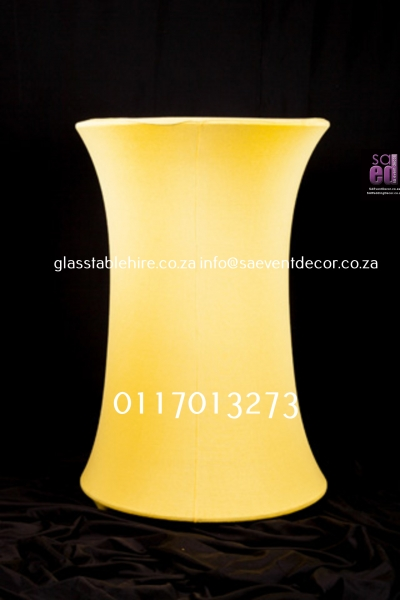 cocktail Yellow LED Cocktail Table