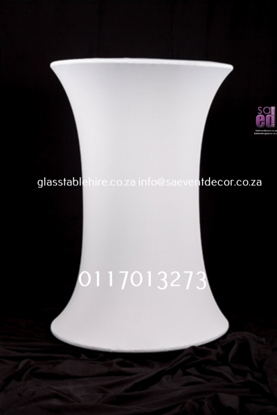 cocktail White LED Cocktail Table