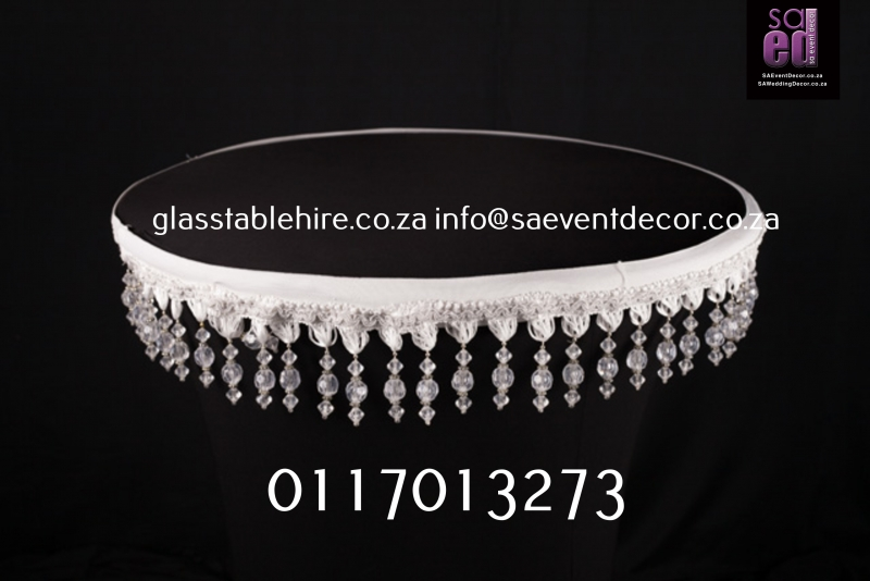 Black Lazy Susan Cover With Beaded Detail