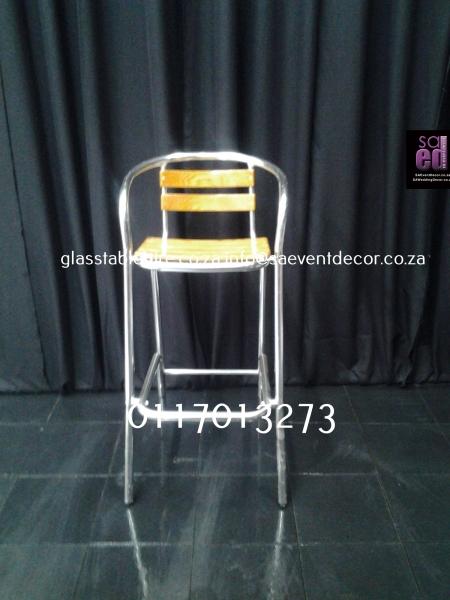 Aluminium & Wood Cocktail Chair