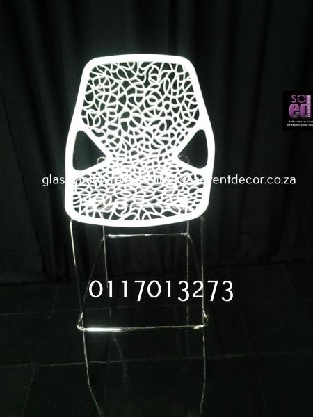 Aluminium & Wood Café Chair White Spider Cocktail Chair