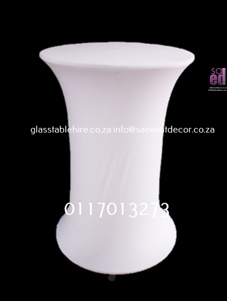 cocktail White LED Stretch Cocktail Table