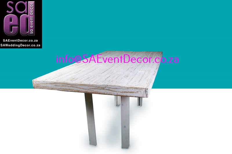 White Washed Vintage Table Hire From SA Event Decor