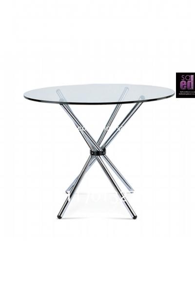 Cafe Aluminium & Glass Top Table
