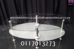 Aluminium & Glass Coffee Table coffee White And Clear Glass  And Aluminium Coffee Table