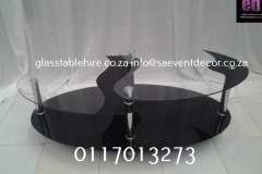 Aluminium & Glass Coffee Table