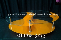 Aluminium & Glass Coffee Table coffee Yellow Aluminium & Glass Coffee Table