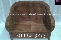 Double- Seater  Wicker Couch