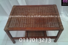 Brown Wicker Coffee Table