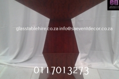 Brown Wooden Designer Plinth