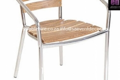Aluminium & Wood Café Chair