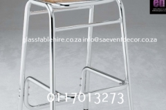 Aluminium & Wood Café Chair Silver Aluminium Cocktail Chair