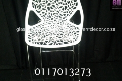 Aluminium & Wood Café Chair White Spider Cocktail Chair