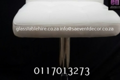 Aluminium & Wood Café Chair White Square  Leatherette  & Aluminium  Cocktail Chair