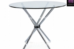 Cafe Aluminium & Glass Top Table
