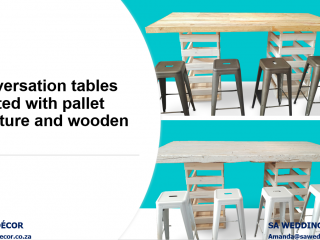 Conversation-style-cocktail-tables-created-with-pallet-wood