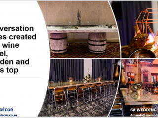 Conversation-style-cocktail-tables-created-with-wine-barrels-and-designer-tops