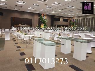Sandton Convention Centre - Glass Tops & Square White Plints