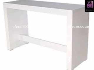 White High Gloss Conversation Table