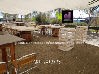 Monte Casino - Conversation Tables & White Washed Designer Tables