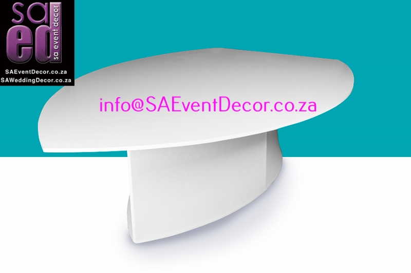 Leaf Shape Table Hire From SA Event Decor