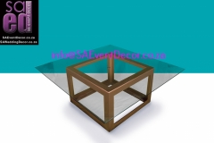 CNC Gold Square Table Base Hire From SA Event Decor