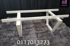 White Table Frame In Steel