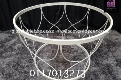 White Metal Geometric Round Designer Table Base