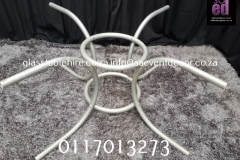 White Metal Round Designer Table Base