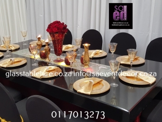 High Gloss Black Rectangular Table Tops