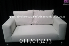 White  Leatherette Double Seater Leather Couch