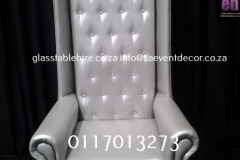 Silver King & Queen Leatherette Chair