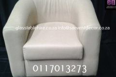 White Fabric Tub Chair